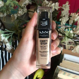 Nyx can't stop wont stop foundation