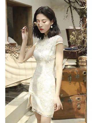 Modern lace Cheongsam dress