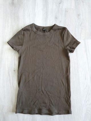 uniqlo ribbed crew neck t shirt