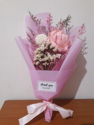 乾燥花 粉色牡丹花束