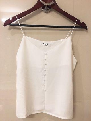 White Cami Top 白色吊帶背心