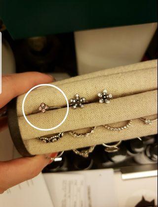 Pandora ring pink zodiac ring