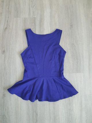 Catwalkclose Cobalt Blue Peplum Top