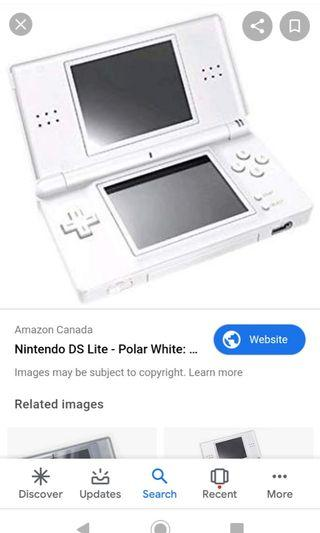 Nds lite with r4 card and cable and case