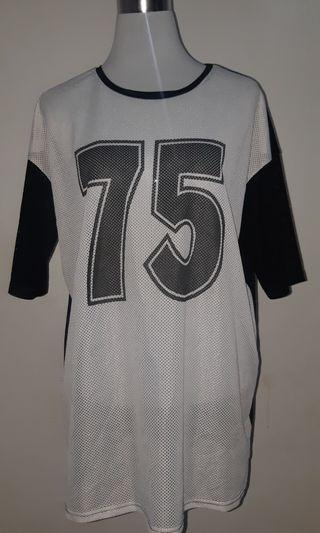 TOPSHOP // oversized see-through jersey shirt