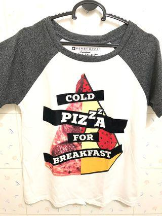 Penshoppe Graphic Tees - cold pizza