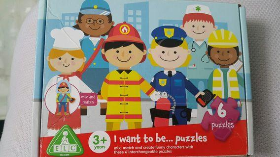 ELC I want to be .... puzzles