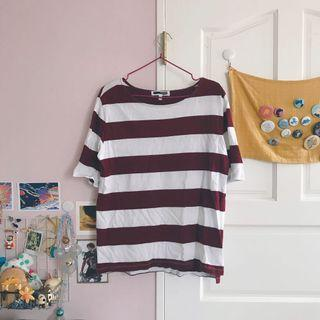🚚 H:connect短袖條紋上衣