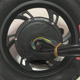 "12"" HM 60V 2000W Brushless Rear Motor Instock"