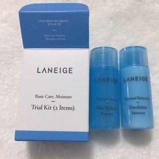 【特價】LANEIGE BASIC CARE MOISTURE TRIAL SET 2件套(海藻水凝細膚水15ML + 海藻水衡補濕液 15ML)