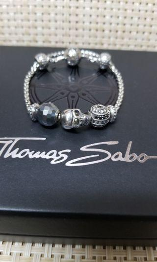 Thomas Sabo silver charm bracelet 銀 鏈 skull
