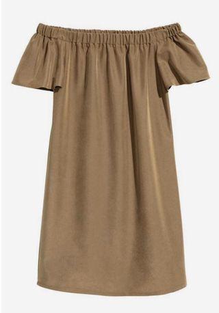 HnM off shoulder nude dress - dress sabrina