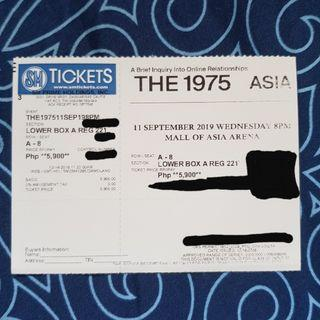 The 1975 in Manila Concert Ticket Lower Box A
