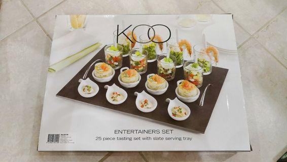 25 pcs entertainers set with tray