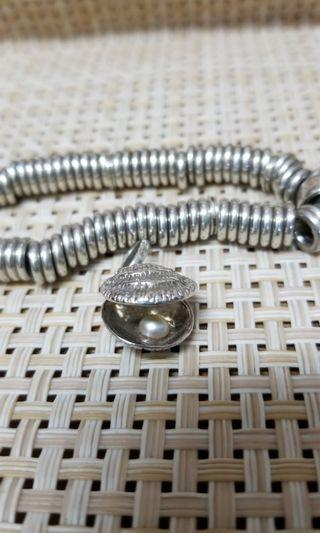 Links of London pearl 貝殼 珍珠 silver charm 銀