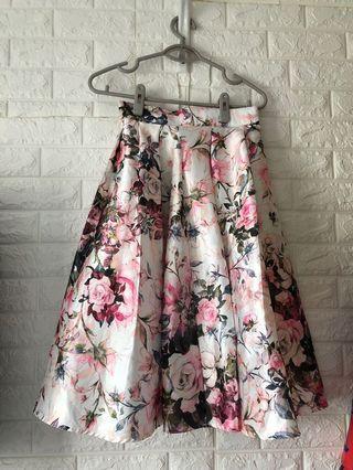 Floral Skirt氣質宴會花花半截裙
