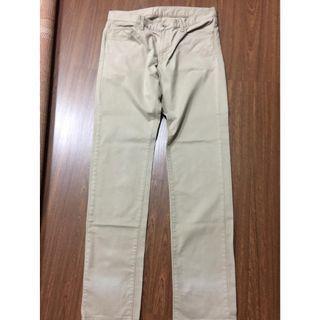 Uniqlo slim fit straight color jeans brown khaki 33 P1,000