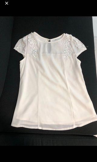 Love and bravery LAB White Lace Top