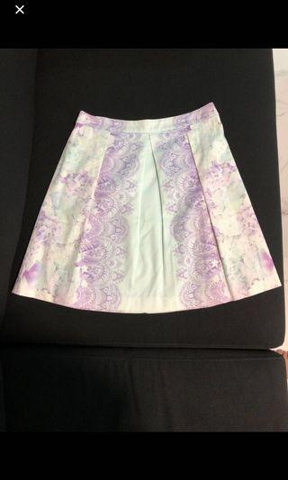 Forever New pastel blue and lilac skirt US2 UK34