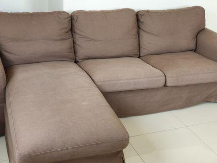 IKEA couch and chaise lounge