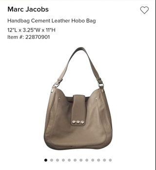 Marc Jacobs - Cement Leather Hobo Bag