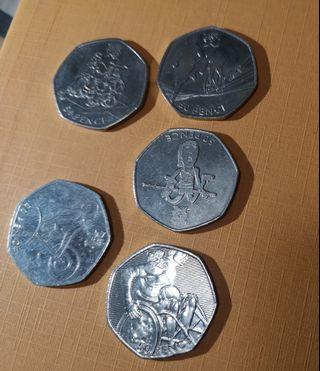 50 pence London Olympic 2012 Old Coins