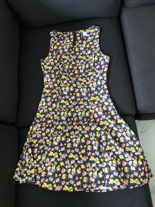 H&M Zalora Floral Dress size UK34