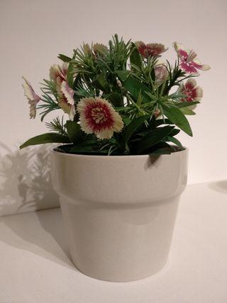 IKEA Plant Pot with Artificial Potted Flower Plant #MGAG101