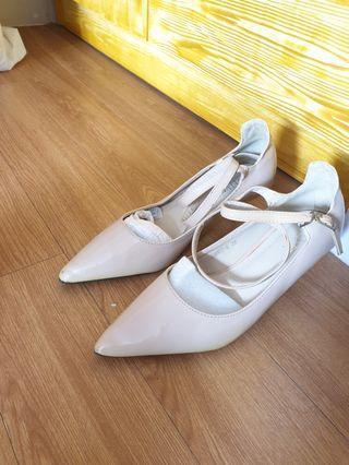 Velvet Nude Shoes