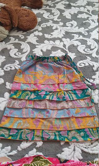 Batik mini skirt
