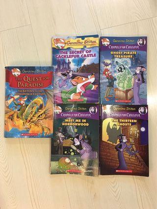 Geronimo Stilton books (3 paperbacks 1 hardcover)