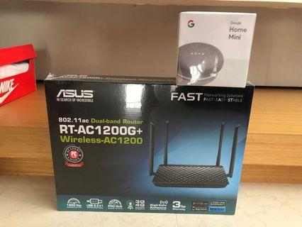 Asus router and google home mini bundle