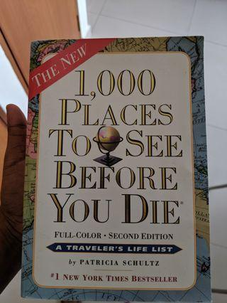 🚚 1000 places to see before you die - perfect travel book