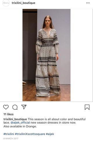 Aijek black maxi dress size 1