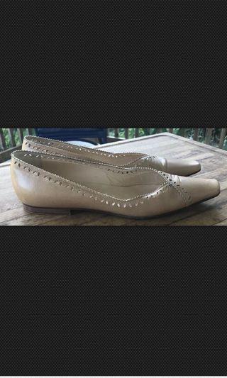 Jimmy Choo Leather Flats Nude Pointy Toe
