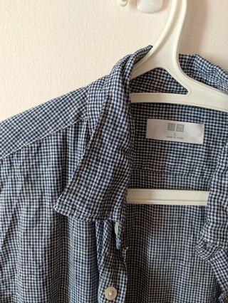 Uniqlo premium linen long sleeve shirt - L size