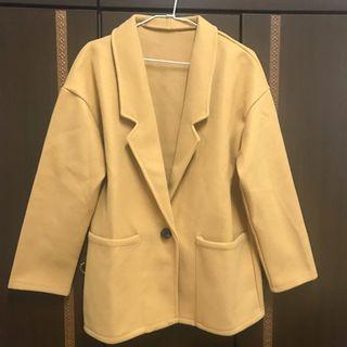 淺棕色西裝外套 全新