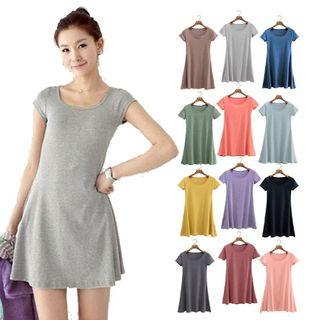 HALF SLEEVE MINI DRESS HIGH COTTON