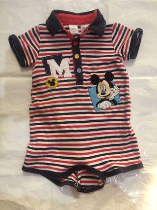 Jumper baby suit mickey original disney polo berkerah unisex