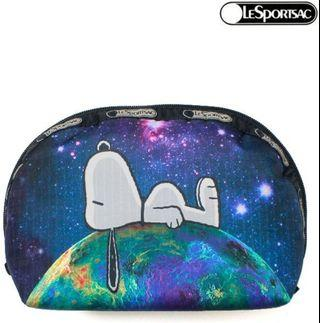 Lesportsac Snoopy Pouch (Top of the world Medium Dome)
