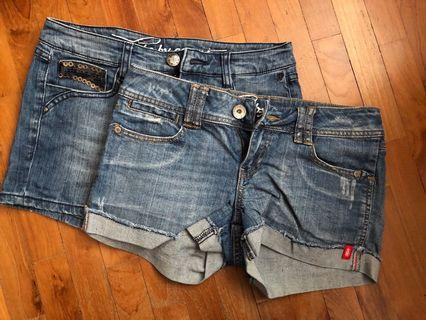 Bundle sale: 2 esprit denim shorts