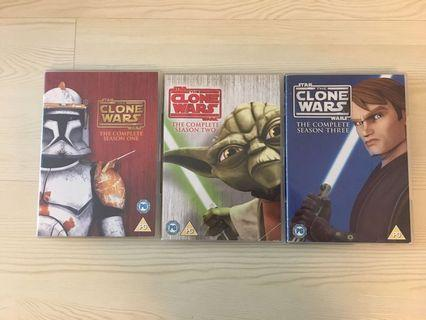 Star Wars: The Clone Wars The complete seasons 1 - 3 (14 discs)