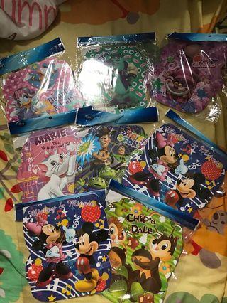 Disney 卡通公仔單行簿