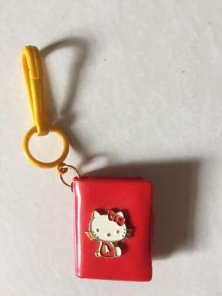 Vintage small keychain hello kitty mini book cover
