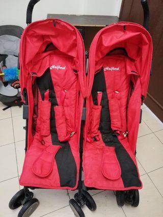 Preloved Halford Twin Stroller