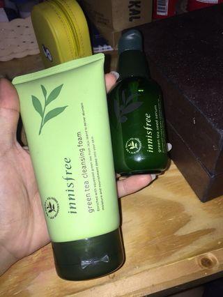 Innisfree serum+face wash