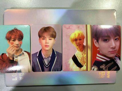 BTS LOVEYOURSELF AMSWER photocard Change