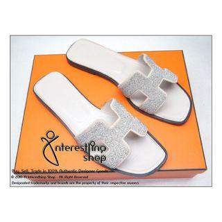 Starting Bid: $420 END 26/06 5 PM - # 4787-04. Authentic Pre-Owned Hermes Oran Sandal Size: 38