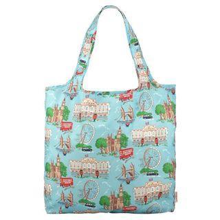 英國代購 現貨 Cath Kidston London Foldaway Shopper tote shopping bag 倫敦地標 可折疊式手提環保購物袋