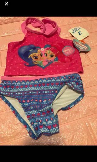 Last 2 sets left !! Authentic spf 50 shimmer and shine Swimming costume for 4T (4-5yrs) brand new